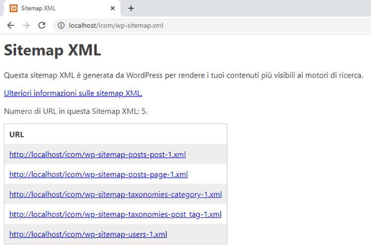 Generazione automatica della sitemap del sito in formato XML adesso disponibile in WordPress 5.5.